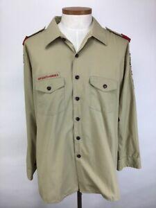Boy Scouts of America BSA Official Uniform Long Sleeve Shirt Adult 2XL