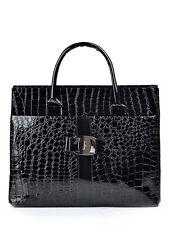 SAC à MAIN Noir imitation cuir Aspect croco - Black Hanbag Croco style