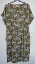 New White Stuff Palm leaf Printed Green Summer Dress Size 14