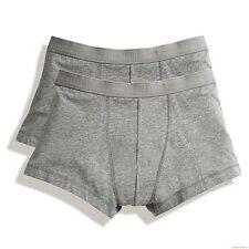 Paquete de 2 NEGRO GRIS BLANCO O AZUL algodón elástico Boxers Hombre Bóxers