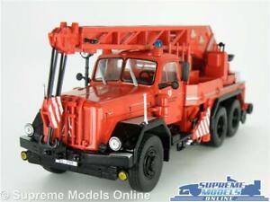 MAGIRUS DEUTZ KW 16 FIRE ENGINE MODEL CRANE TRUCK LORRY 1:43 SCALE IXO RED K8