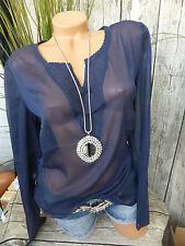 sheego Chiffon Long Tunic Blouse Size 40 - 58 Soft Fall (760) NEW