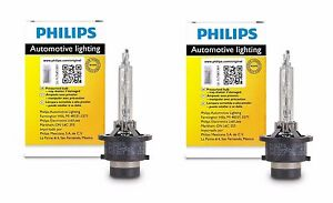 2x Authentic Philips D4S HID Upgrade Xenon Bright WHITE 200% More Light Bulb OEM