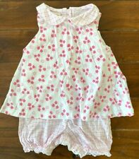 Sweet Potatoes Boutique One Piece Floral Pink Romper 9 Mo NWT