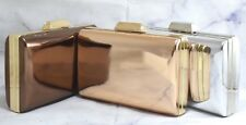 Metallic Colours Soft Clutch Bag Wedding Prom Evening Handbag Party Purse Design