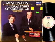 LONDON ffrr DIGITAL Mendelssohn SCHIFF Piano Concertos #1 #2 DUTOIT LDR-71123 NM