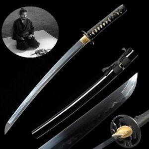 Hand Forged T10 Steel w Clay Tempered Wakizashi Samurai Sword Short Sword #877