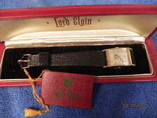 Lord Elgin men's wrist watch, 21 jewel movement, 14K solid gold case