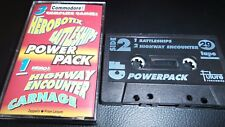 COMMODORE 64 GAME THE CF POWER PACK TAPE 29. TESTED. 3 FULL GAMES, & 1 DEMO
