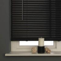Window Blinds For Home Office High Quality PVC Venetian Blind Black 90 x 150cm