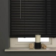 Window Blinds For Home Office High Quality PVC Venetian Blind Black 120 x 150cm