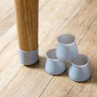4PCS Silicon Furniture Leg Protection Cover Transparent//Blue D3Y9