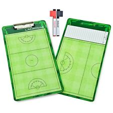 GoSports Women's Lacrosse Coaches Board | Double Sided Dry Erase Surface + Pens