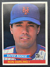 "1984 Donruss RON DARLING Rookie Card RC ""Rated Rookie"" - No Number Error"
