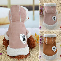 Winter Pet Dog Warm Hoddie With Fleece Sweater Cat Puppy Jacket Coat Outcoat