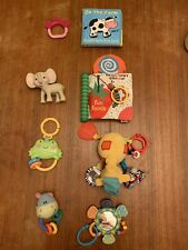 Lot Of 8 Baby Sensory Rattles Noise Newborn Toys Bright Starts