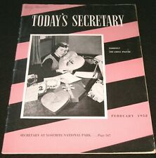 VINTAGE! TODAY'S SECRETARY ~ FEBRUARY 1952 Issue / FORMERLY THE GREGG WRITER