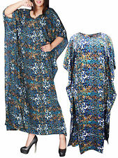 eaonplus COLOURED So So Soft Animal Print Kaftan Dress  PLUS SIZE 14 to 34