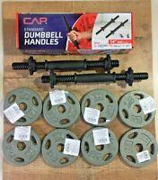 "CAP 20LB total 2.5LB Weight Plates Lot 1"" Set of 8 WITH NEW CAP Dumbbell Handles"