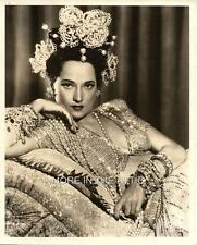 SEXY SULTRY BUSTY MERLE OBERON ORIGINAL NIGHT IN PARADISE GLAMOUR PORTRAIT STILL
