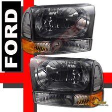 99-04 Ford Excursion F250 F350 SuperDuty Headlights & Corner Signal Lights Smoke