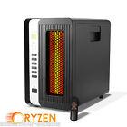 Ryzen H-5000 1500 Watt Commercial Portable 3 Element Infrared Quartz Heater