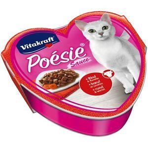 15 Bowls - VITAKRAFT Cat Food Poesie Sauce, Beef And Carrot - Food