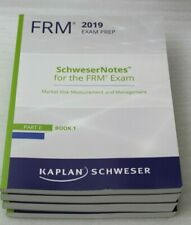 Kaplan Schweser Cfa Frm 2019 Exam Prep Schwesernotes Part II Book 1-4+