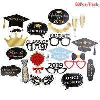 Graduation Party Supplies Photo Booth Picture Frame Class of 2019 Paper Props