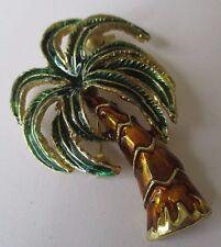 broche collection qualité bijou couleur or palmier émail brillant  relief 252
