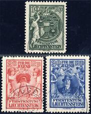 LIECHTENSTEIN 1932, MiNr. 116-118, 116-18, sauber gestempelt, Mi. 140,-