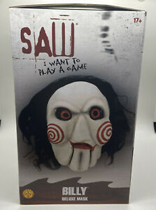 BILLY DELUXE MASK SAW PUPPET HORROR RUBIES FULL OVERHEAD HALLOWEEN COSPLAY
