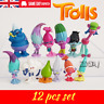 12Pcs Trolls Movie Poppy Branch Action Figures Cake Toppers Doll Toy Gifts