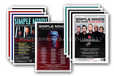 SIMPLE MINDS - 10 promotional posters  collectable postcard set # 1