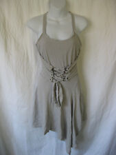 *Rare Grey Lip Service Straps of Mercy Strap Halter Dress dmg Zombie Cosplay S