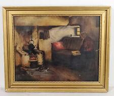 Antikes Ölgemälde Öl auf Leinwand mit Keilrahmen skandinavische Malerei ~1920er
