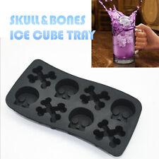 Silicone Skull Bones Ice Cube Tray Jelly Mould Freezer Chocolate Mold Halloween