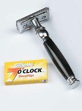 Safety Razor +double edge shaving blades shaver Black Handle  Top Quality