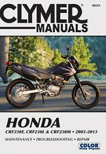 2003-2013 Honda CRF230F CRF230L CRF230M Repair Manual 2007 2010 2011 2012 M223