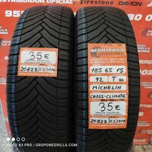2 x 185 65 R15 92T 5.2mm+5.2mm DOT 16/18 Michelin Cross Climate. Ref. 20823