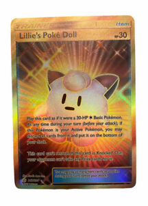 Pokémon Lillie''s Poke Doll - 267/236 - Secret Rare Near Mint Sun & Moon Cosmic