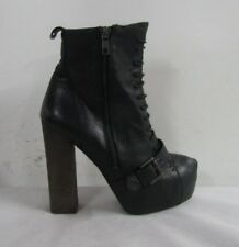 TOPSHOP WOMENS ANKLE BOOTS SIZE UK 6 EU 39 BLACK SOFT LEATHER