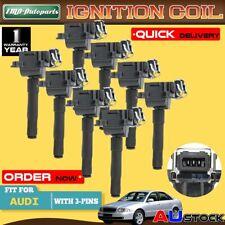 8x Ignition Coils For Audi A8 Quattro S8 4D V8 3.7L 4.2L 32V 1995 1996-1999