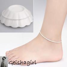 Foot Chain Bracelet Love Uk Seller 21Cm Stunning Hemp Rope 925 Silver Anklet