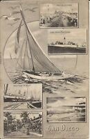 San Diego, CALIFORNIA - Multiview - 1907 - RPO CANCEL- sailboat