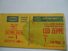LED ZEPPELIN Original 1977 CONCERT TICKET STUB__Madison Square Garden, NYC