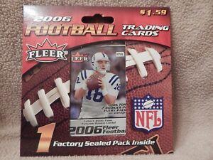 2006 Fleer NFL Football Cards One (1) Retail Pack - Unopened
