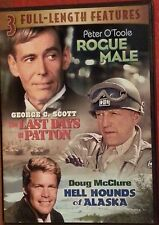 3 Full-Length Features: Roque Male, Hell Hounds Alaska, Last Days Patton (DVD)LN