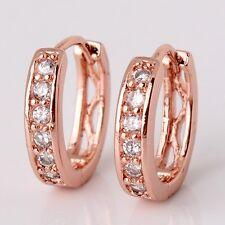 Designer earrings! 18K rose gold filled shining white sapphire earring