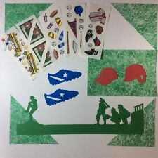 NEW Creative Memories BASEBALL Combination Pack - Die Cuts, Stickers, Paper